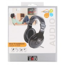 HEADPHONES FOR TV 8M. CABLE BLACK