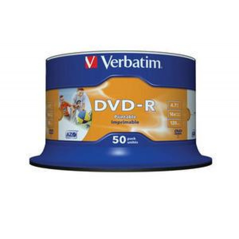 DVD-R SP-50 PRINTABLE FULL FACE NO ID BRAND 16X