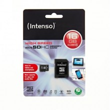 MicroSDHC 16GB CLASS 10 WITH ADAPTOR INTENSO-3413470