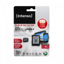 MicroSDHC 16GB CARD UHS-I WITH ADAPTOR INTENSO-3423470