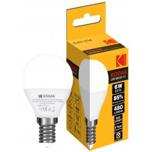 KODAK LED DAY G45 E14S 6W=40W A+ ND 85% 3YW 25KH 480 LUMENS
