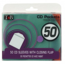 CD  SLEEVE/POCKET COLOR 50PK PLASTIC