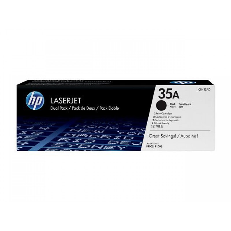 HP.35A.DOUBLE PACK.P1002/P1005/P1006/P1007 TONER(2X2000)