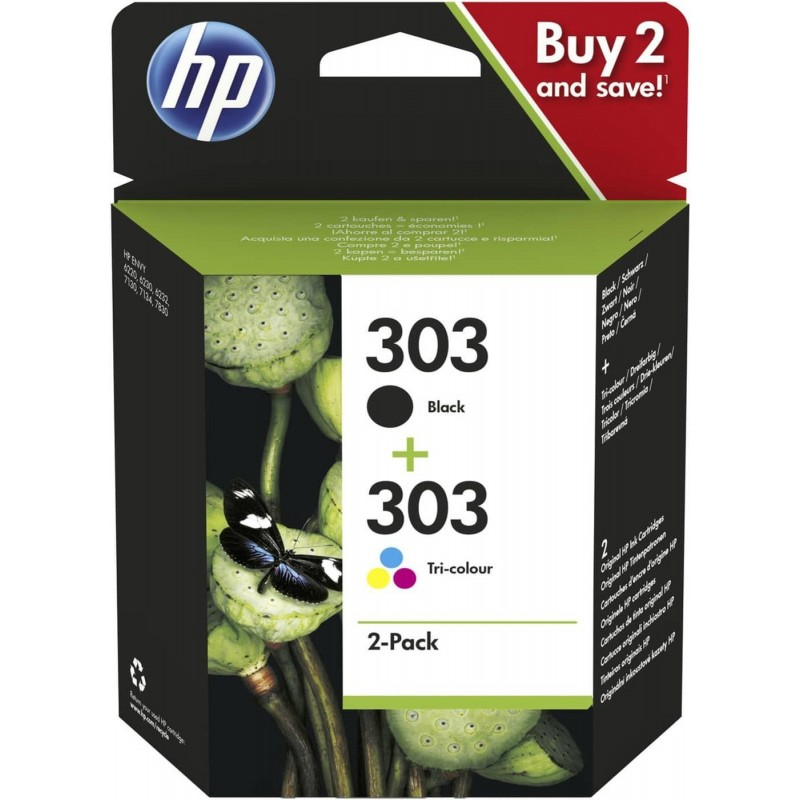 HP.303.BLK+COL.SET.2 PCS.PHOTO 6220/6230/6232/6234/6255/7130/7134/7155/7830/7855(BLK=200)(COL=165)