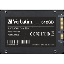 SSD INTERNAL Vi550 S3 512GB  2.5 SATA III 7mm VERBATIM