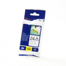 BROTHER PT 24mm B/W x 8M STRONG ADHESIVE