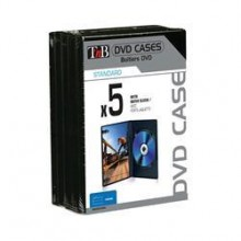 DVD CASES INJECTED BLACK (X5)