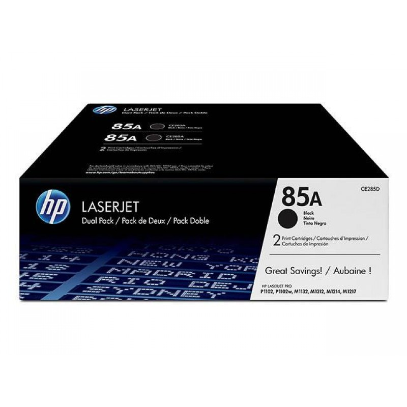 HP.85A.DOUBLE PACK.P1102/1102w/M1212NF TONER=CANON 725(2X1600)