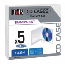 TNB CD BOX UNBREAKABLE CLEAR 5PCS