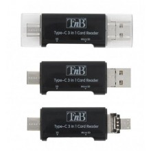 TNB USB TYPE-C 3 IN 1 CARD READER