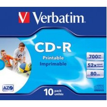 CD-R 48X-JC-10PK-PRINTABLE-VERBATIM