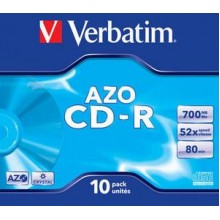 CD-R 52X-JC-10PK-CRYSTAL-SUPERAZO-VERBATIM
